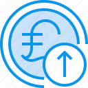 arrow, banking, coin, currency, fund, moeny icon