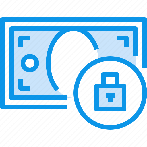 banking, bill, currency, fund, lock, money icon