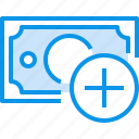 add, banking, bill, currency, fund, money icon