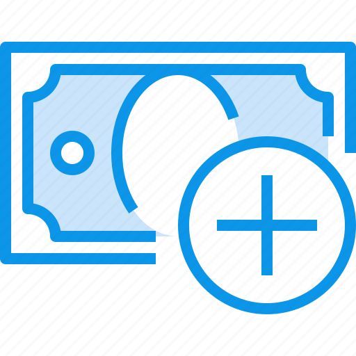 add, banking, bill, currency, fund, moeny, money icon