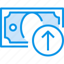 arrow, banking, bill, currency, fund, money icon