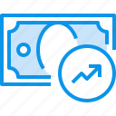 banking, bill, currency, fund, graph, money icon