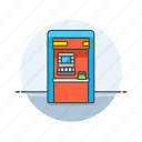 atm, cash, currency, finance, machine, money, street, withdraw icon
