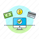 accepted, method, money, payment icon
