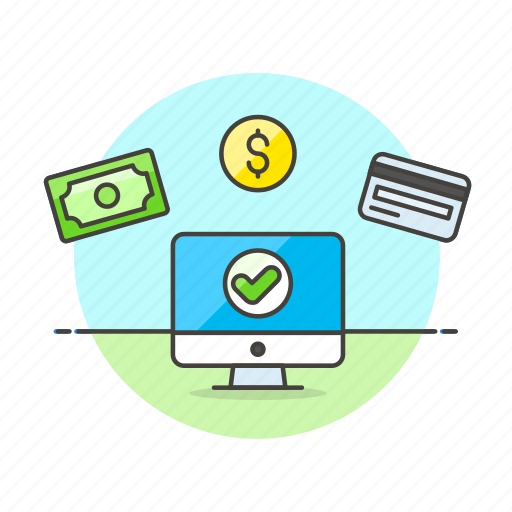 accepted, approve, card, cash, method, money, online, payment icon