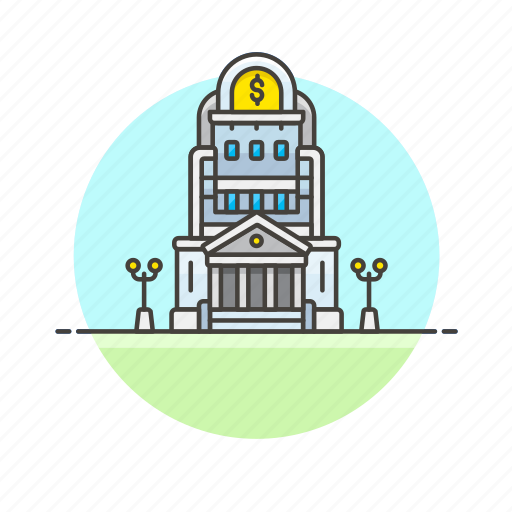 bank, business, central, credit, currency, finance, money icon