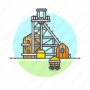 build, construction, finance, gold, mine, money, property icon