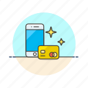 card, credit, finance, mobile, money, payment, smartphone, virtual icon
