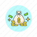 bag, cash, coin, currency, finance, money, sack icon