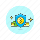 money, protection, cash, currency, dollar, finance, shield