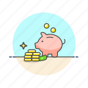 bank, cash, coin, currency, finance, money, piggy, saving icon