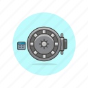 bank, cash, currency, finance, money, safe, vault icon