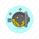 bank, finance, gold, money, plate, safe, vault icon