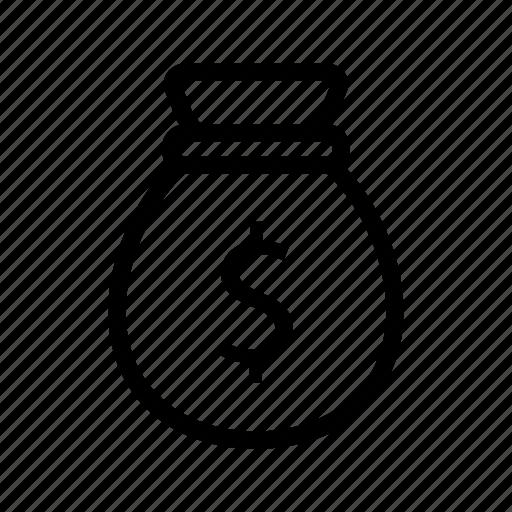 bag, cash, coins, money, payment icon