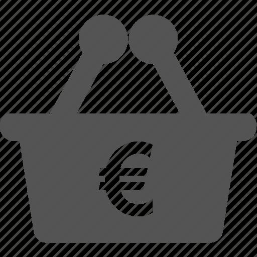 business, cart, commerce, euro, finance, money, sale icon