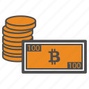 bill, cash, coin, coins, money icon