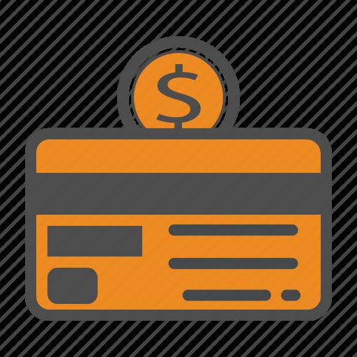 bill, card, cash, coin, credit, money icon