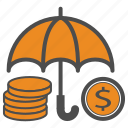 bill, cash, coin, coins, money, safe, security icon