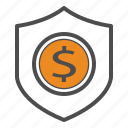 bill, cash, coin, money, safe, secure, security icon