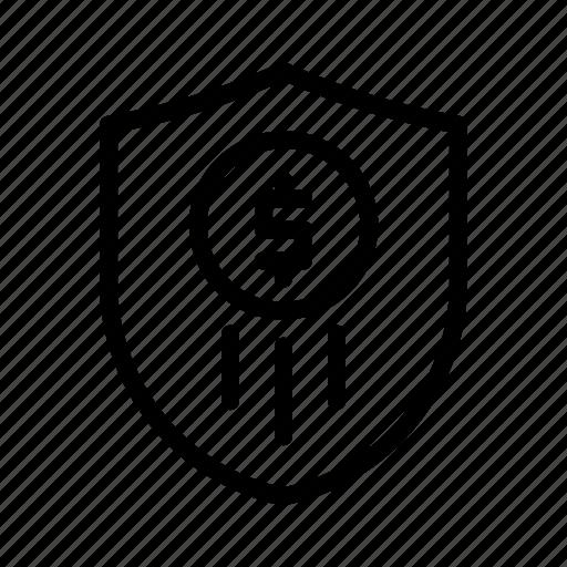 banking, business, finance, insurance, money, shield icon