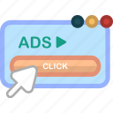 adsense, click, computer, cursor, technology, website icon