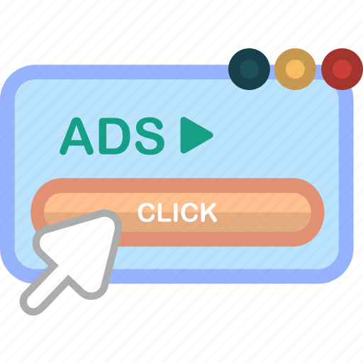 adsense, click, computer, cursor, technology, website icon