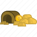 bitcoin, coin, finance, gold, investment, mining, money icon