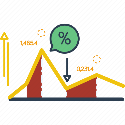 analytics, chart, diagram, graph, percent, statistics, trade icon