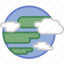 cloud, concept, data, earth, object, planet icon