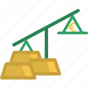 business, euro, exchange, finance, gold, money, object icon