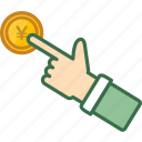 coin, finance, gold, investment, money, saving, yen icon