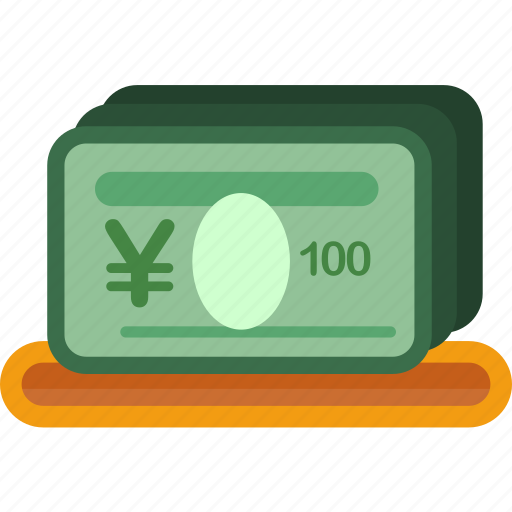 currency, finance, investment, money, paper, saving, yen icon