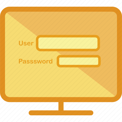 computer, devices, login, member, monitor, protection, technology icon