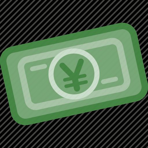 finance, gold, investment, money, paper, saving, yen icon