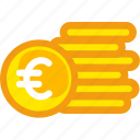 coin, euro, finance, gold, investment, money, saving icon