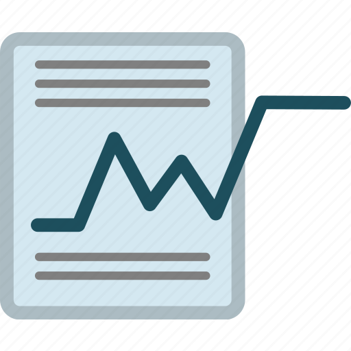 chart, concept, data, document, graph, note, paper icon