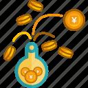 coins, dollar, finance, gold, investment, money, saving icon
