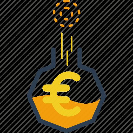 door, euro, finance, gold, investment, money, saving icon