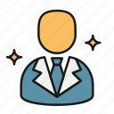 business, businessman, consulting, finance, trust icon