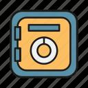 box, deposit, investment, money, safe, savings icon