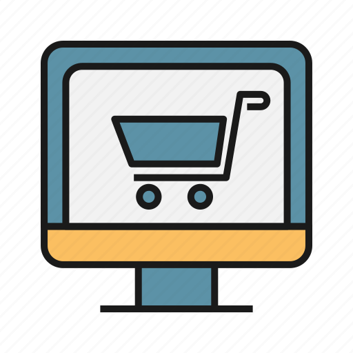 business, ecommerce, online shopping, screen, shopping, shopping cart icon