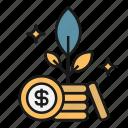 future, investment, money, savings, tree, wealth icon