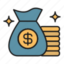 bag, investment, money, payment, savings, wealth icon