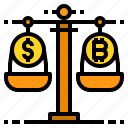 currency, payment, balance, money, banking, scale icon