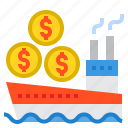 banking, currency, money, payment, ship