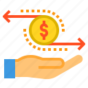 banking, currency, exchange, money, payment icon