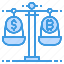 money, payment, balance, currency, scale, banking icon