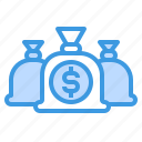 bag, banking, currency, money, payment icon