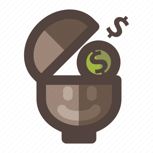 business, head, idea, money icon