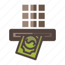 auto, machine, money, withdrawal icon